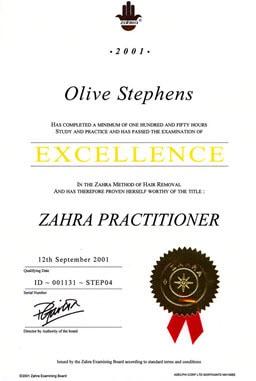 Zahra certificate